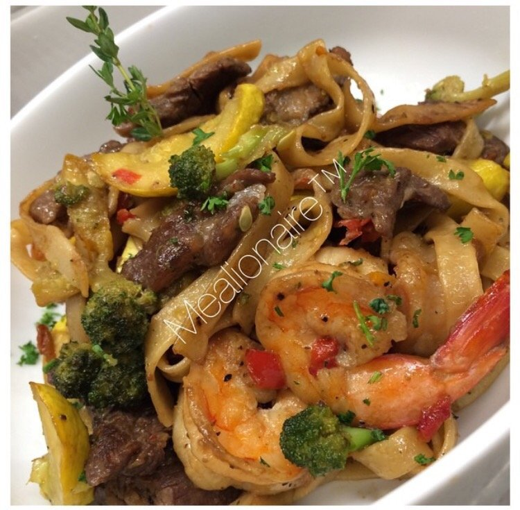 surf n turf pasta by chef ashley jonique fluffy aint for me. Black Bedroom Furniture Sets. Home Design Ideas