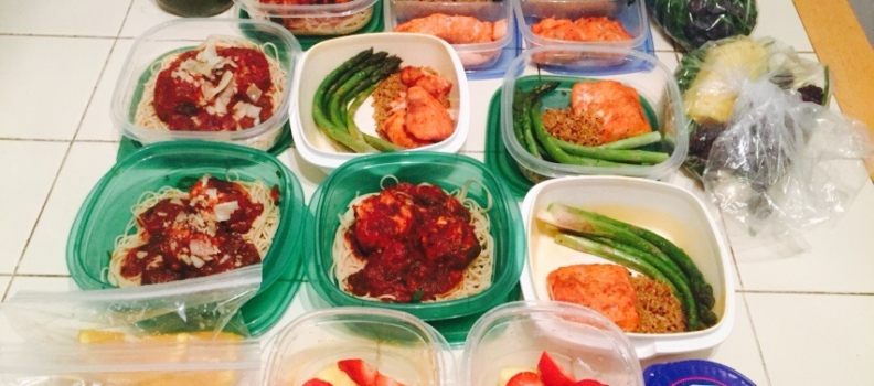 MEAL PREP AND WORKOUTS FOR THE WEEK.
