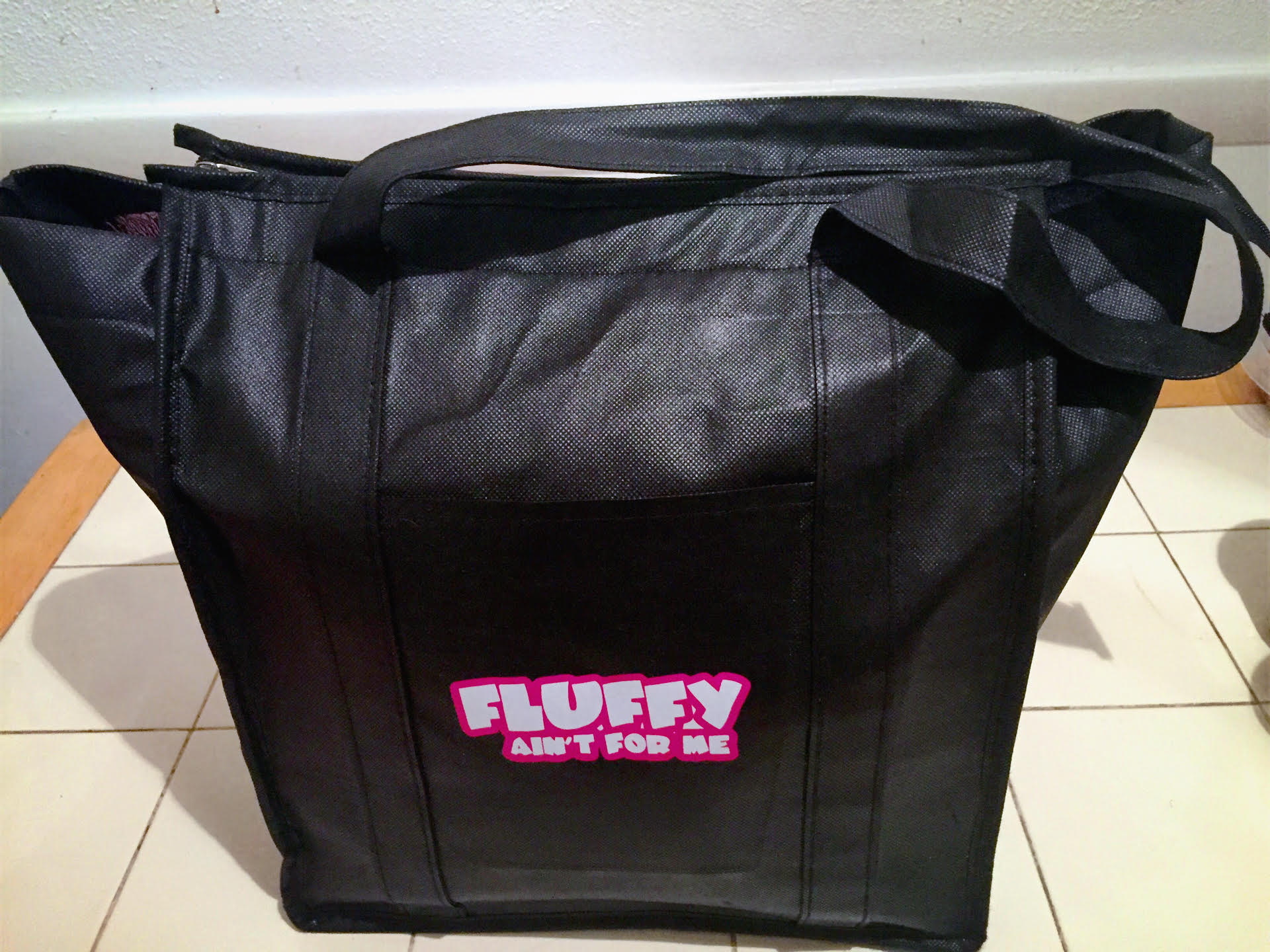 """Fluffy Ain't For Me"" Large Insulated Meal Prep Bag"